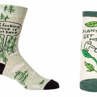 Hers and His I Fucking Love Plants Sock Pack (2 pairs)