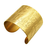 Gold Paris Metro Cuff