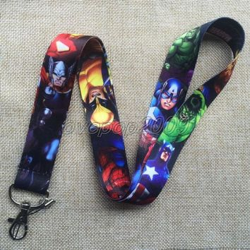 Lot 10Pcs Avengers Cartoon Mobile Cell Phone Lanyard Neck Straps Party Gifts S173