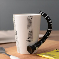 Ceramic Coffee Cup (Music Inspired - Clarinet)