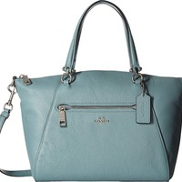 COACH Womens Pebbled Leather Prairie Satchel