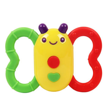 Baby Ratlle Toys Butterfly Green Teether Toy Age for 3 Months