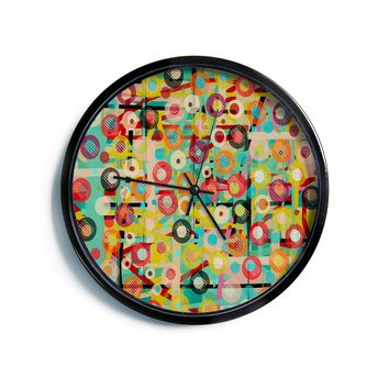 "Bri Buckley ""Gift Wrapped"" Crazy Abstract Modern Wall Clock"