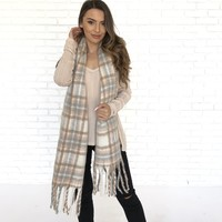 Country Plaid Oversized Scarf