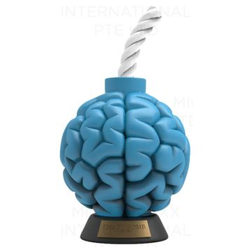 Jason Freeny Smart Bomb Exclusive Blue 8-inch Vinyl Art Collectible by MightyJaxx PREORDER