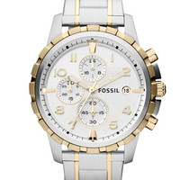 Fossil Mens Dean Stainless Steel Watch
