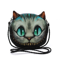 Alice in Wonderland Cheshire Cat Shoulder Casual walking errand messenger school class Bag purse