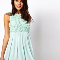 TFNC Babydoll Skater Dress in Floral Cornelli at asos.com