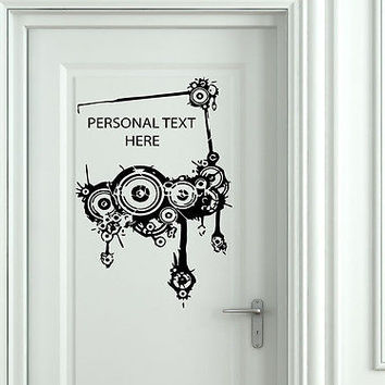Wall Mural Vinyl Decal Sticker Sign Door Frame Personalized Text Name AL267