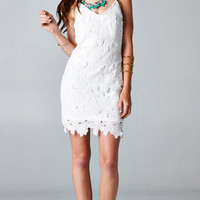 WHITE SUMMER LACE DRESS