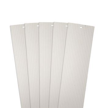 DALIX Ribbed Vertical Blinds Replacement Slats Ivory Vinyl Window 5 Pack