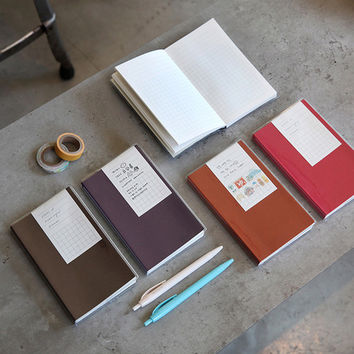 Free small grid notebook