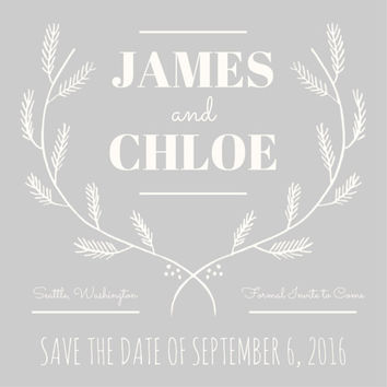 Customisable Save the Date postcard in Garden Party: Email or print yourself