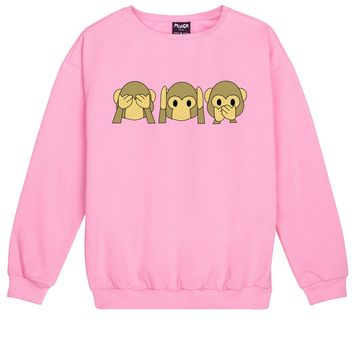 EMOJI MONKEY SWEATER