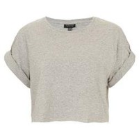 Roll Back Crop Tee - The Models Off-Duty - We Love - Topshop USA