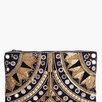 Boutique Leah Embellished Statement Clutch Bag