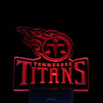 ws0123 Tennessee Titans Bar Day/ Night Sensor Led Night Light Sign