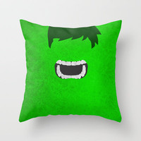 Hulk Throw Pillow by TheLinC