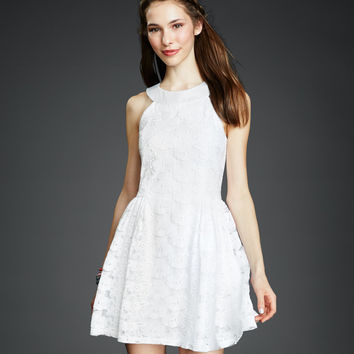 Floral Lace Graduation Dress