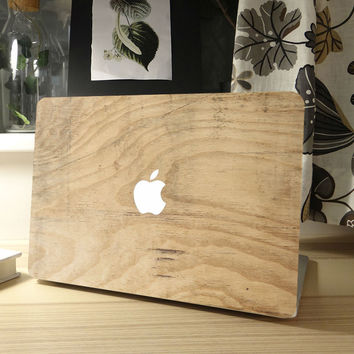 "Wood Grain Full Front Cover Laptop Sticker for MacBook Decal Air Pro Retina 11"" 12"" 13"" 15 Mac Protective Computer Notebook Skin"