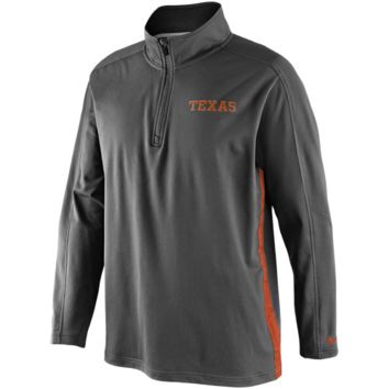 Nike Texas Longhorns Knit Coaches Quarter Zip Pullover Jacket - Charcoal