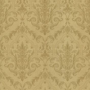 Brewster Wallpaper 987-56570 Consuela Beige Damask