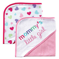 Luvable Friends 2-Pack I Love Hooded Towels