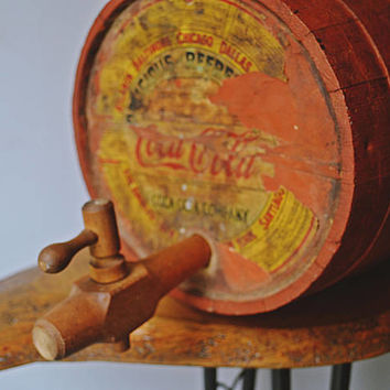 1920's-1930's Coca-Cola Syrup Barrel, Coca Cola Wood Keg With Antique Spigot, Coke Collectible