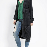 Urban Outfitters - Cassette Society Freedom & Glory Long Cardigan