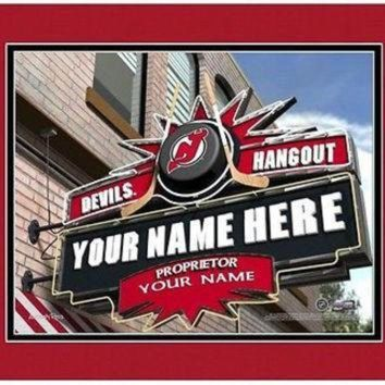ICIKU3N Hockey-NHL New Jersey Devils Sports Hangout Print personalized gift it