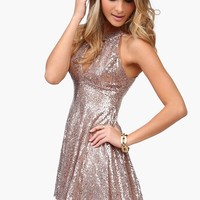 Dancing Queen Sequin Dress in Gold