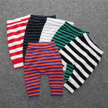 Top Quality Children Thick Soft Cotton Trousers Newborn Infant Harlan Pants Baby Boys Girls Leggings Fashion Clothing Spring New