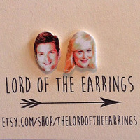 Leslie and Ben - Parks and Recreation - Stud Earrings