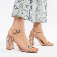 Miss KG Shimmer Embellished Heeled Sandals at asos.com