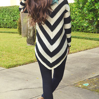 Race To The Park Sweater: Black/White