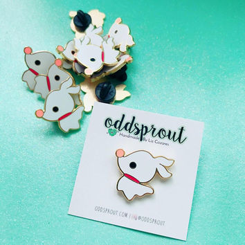 Zero the Ghost Dog Inspired | Halloweentown Dog | Enamel Pin | Nightmare Before Christmas Fantasy Pin