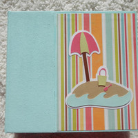 6 x 6 Premade Beach Scrapbook Album