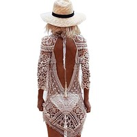 Lace Beach Cover Up Sarong