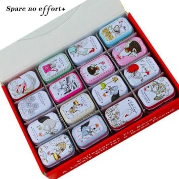 New Arrival Cute Tin Box 32 Pieces/Set Mini Mac Cosmetics Organizer Tea Container Candy Case Jewelry Storage Christmas Gift Box