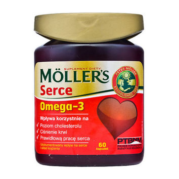 MOLLER'S HEART x 60 capsules, omega 3 fatty acids