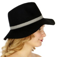 Vacation Hats Banded Panama Hat for Women
