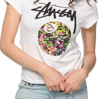 Stussy 8 Ball Paint Baby Doll T-Shirt