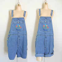 Women Overall Denim Overall Shorts Dungarees Salopette Jean Overall Shorts Bib Overall Shorts Over All Women Shortall Embroidered Overalls