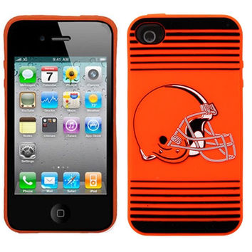 Cleveland Browns Team Logo Silicone iPhone 4/4S Case