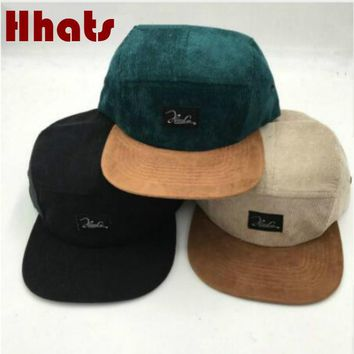 f15182d9589 Trendy Winter Jacket which in shower casual flat brim suede cap women  corduroy hip hop cap