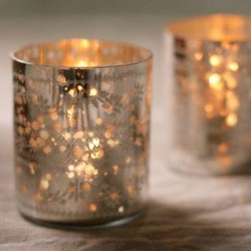 Sparkling Silver T Light Holder