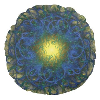 Fractal Art Round Pillow
