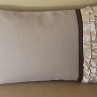 RUFFLE PILLOW cover,elegant cushion cover, luxury gift