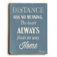 Distance by Artist Flavia Weedn Wood Sign