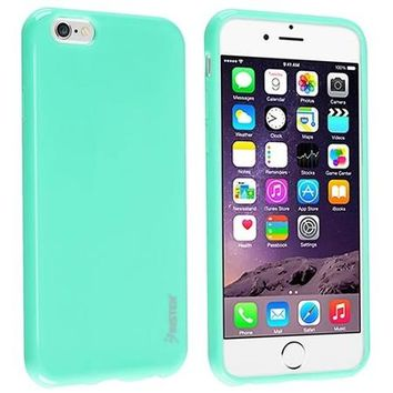sports shoes 643a3 c7da4 Insten Mint Green Shockproof Ultra Thin Soft Rubber TPU Case Cover For  iPhone 6 Plus / 6S Plus 5.5